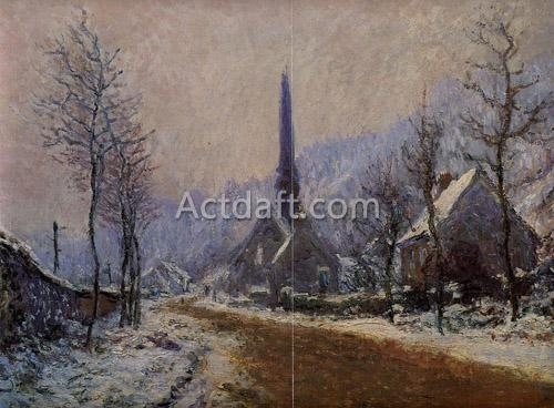 Church at Jeufosse Snowy Weather 1893