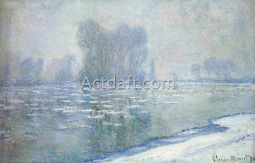Ice Floes Misty Morning 1893