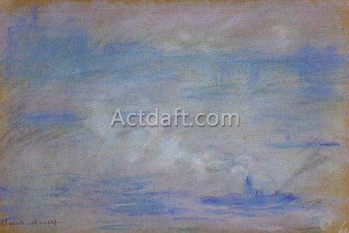 Boats on the Thames Fog Effect 1901