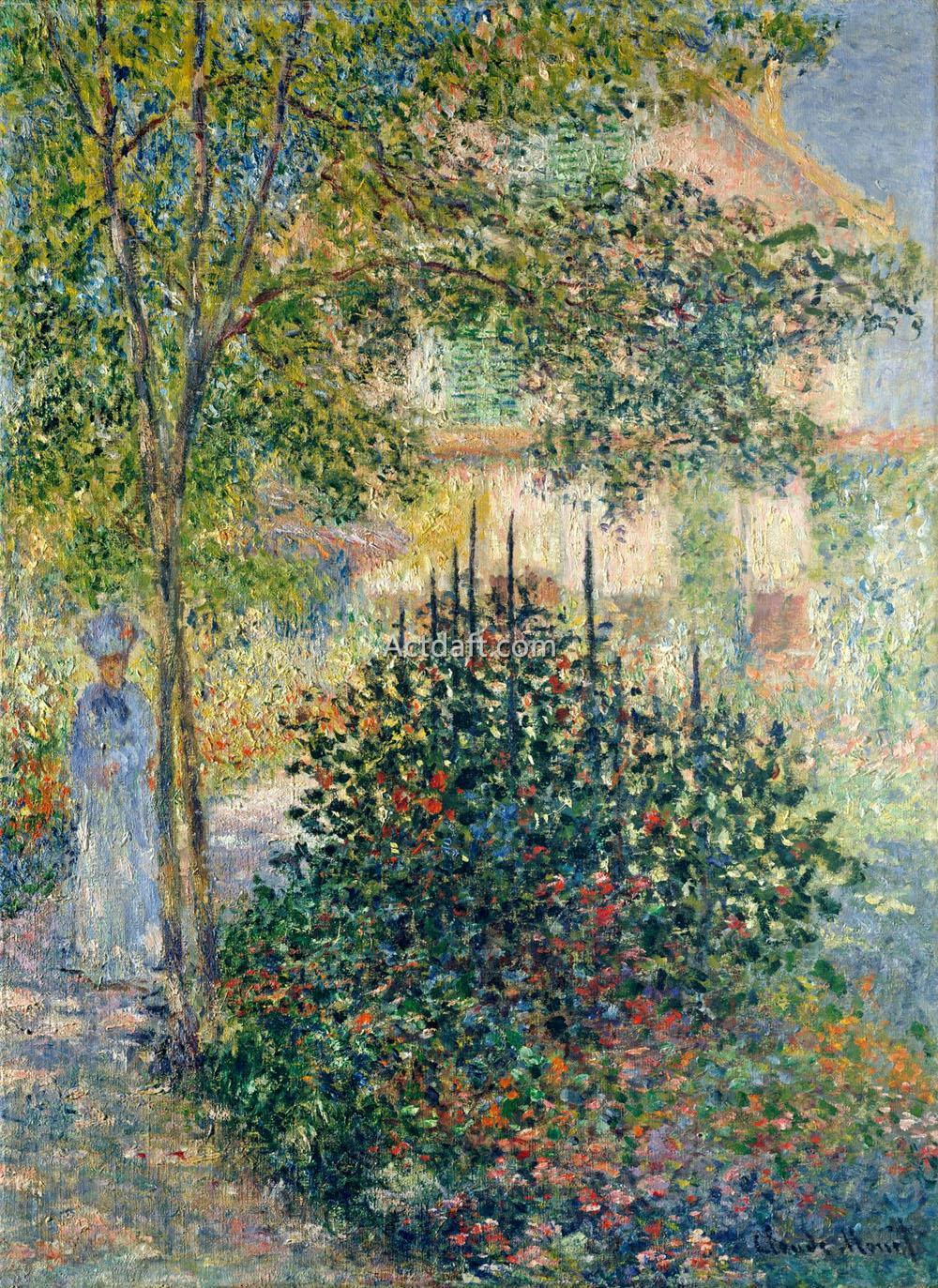 Camille Monet in the Garden at Argenteuil 1876