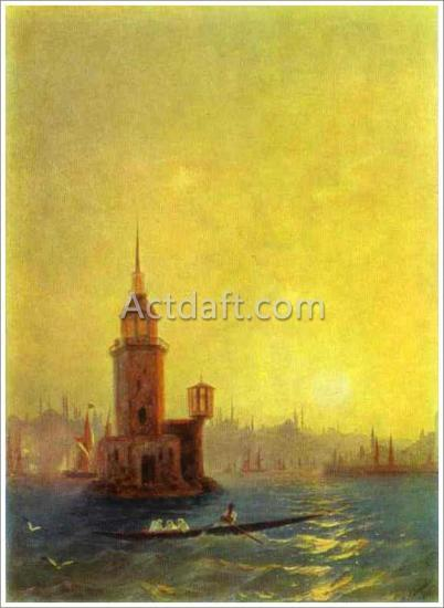 アイヴァゾフスキー【View of the Leander Tower in Constantinople】