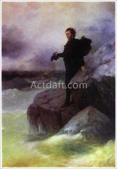 アイヴァゾフスキー【Ivan Aivazovsky and Ilya Repin. Pushkin's Farewell to the Sea】
