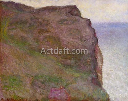 Cliff at Petit Ailly in Grey Weather 1897