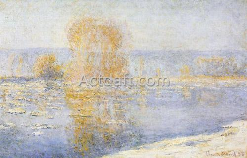 Floating Ice at Bennecourt 1893